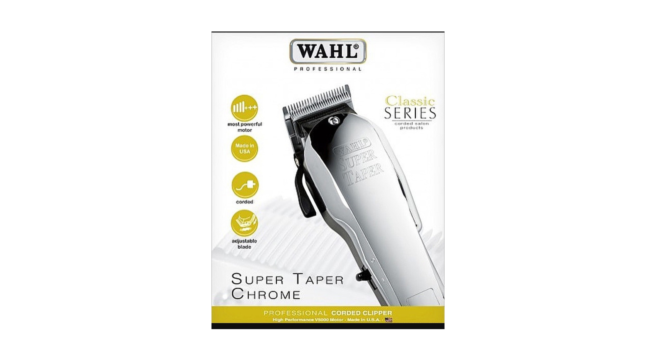 Super Taper Chrome Classic Series Wahl Professional